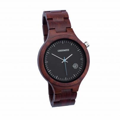 Houten horloge heren Maestro Rood