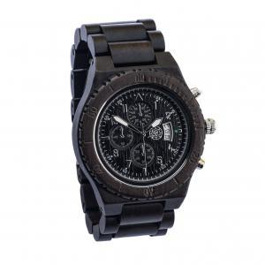 timer-nerf-zwart-heren-houten-horloge
