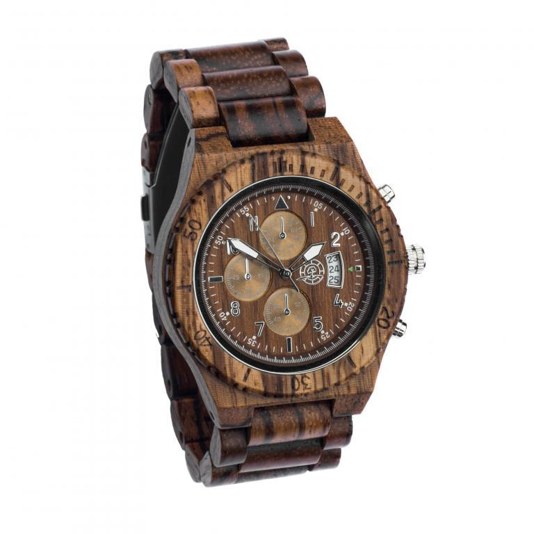 Houten horloge man als uniek cadeau