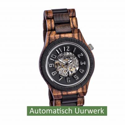 Houten Horloge Heren Automatisch Uurwerk Greenwatch