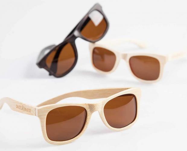 Houten zonnebrillen collectie